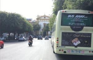 autobus bus away pubblicita sui mezzi